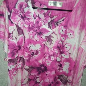 Tops - Beautiful Pink Flower Blouse
